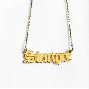 Siempre gold plated necklace